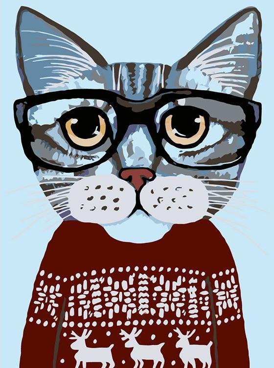 Картина по номерам «В красном свитере»