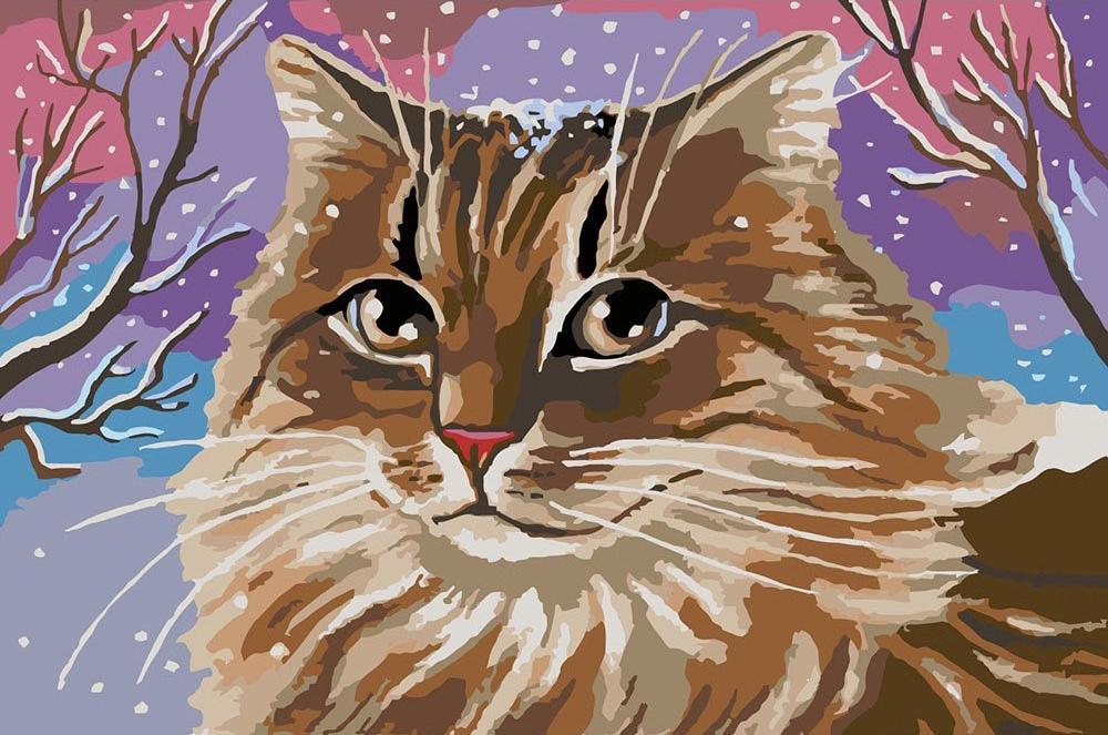 Картина по номерам «Кошачий портрет» фото
