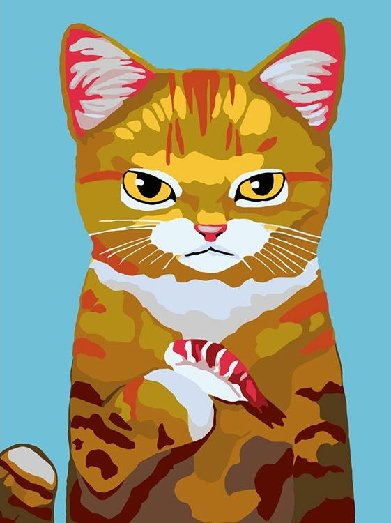 Картина по номерам «Любимое лакомство. Суши» Кэри Чун Ли
