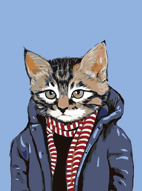 Картина по номерам «В теплой куртке» Хизер Меттун