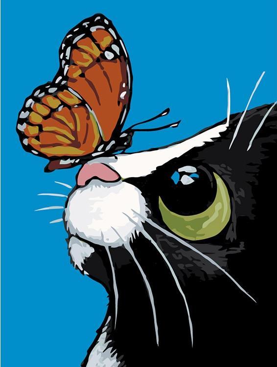 Купить Картина по номерам «Милая бабочка» Лизы Мари Робинсон, Живопись по Номерам, Китай