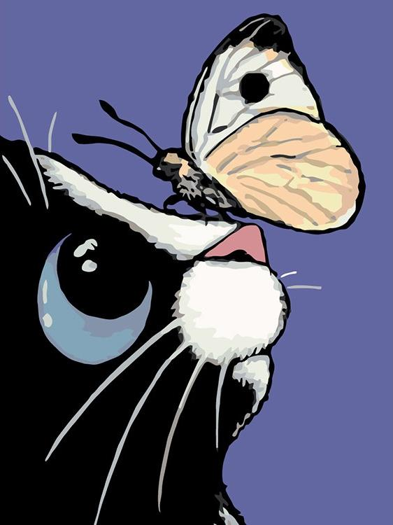 Купить Картина по номерам «Красивая бабочка» Лизы Мари Робинсон, Живопись по Номерам, Китай