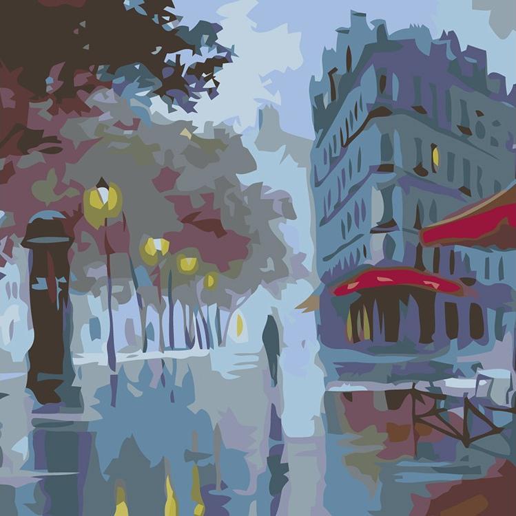 Купить Картина по номерам «Фонари в сумерках» Александра Болотова, Живопись по Номерам, Китай