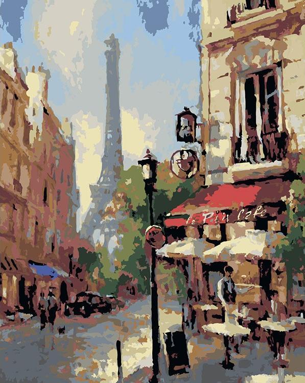 Картина по номерам «Парижская улочка» Брента Хейтона