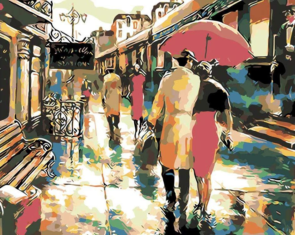 Картина по номерам «Посадка на поезд» Брента Хейтона