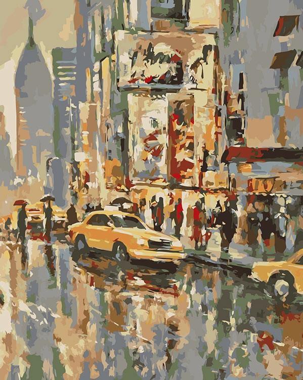 Купить Картина по номерам «Дождь в Нью-Йорке» Брента Хейтона, Живопись по Номерам, Китай