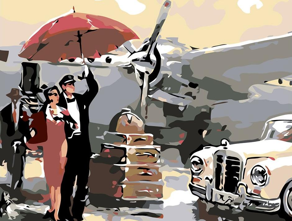 Картина по номерам «В аэропорту» Брента Хейтона