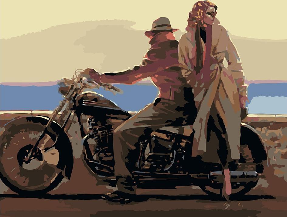 Купить Картина по номерам «Поездка на мотоцикле» Брента Линча, Живопись по Номерам, Китай