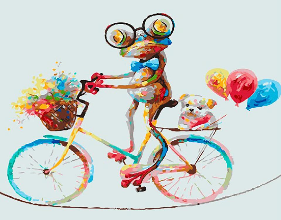 Картина по номерам «Цветной велосипед»