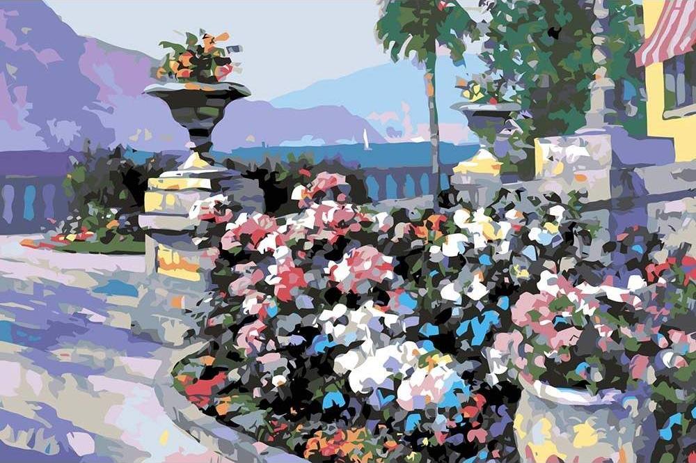 Картина по номерам «Терраса в цветах» Говарда Беренса