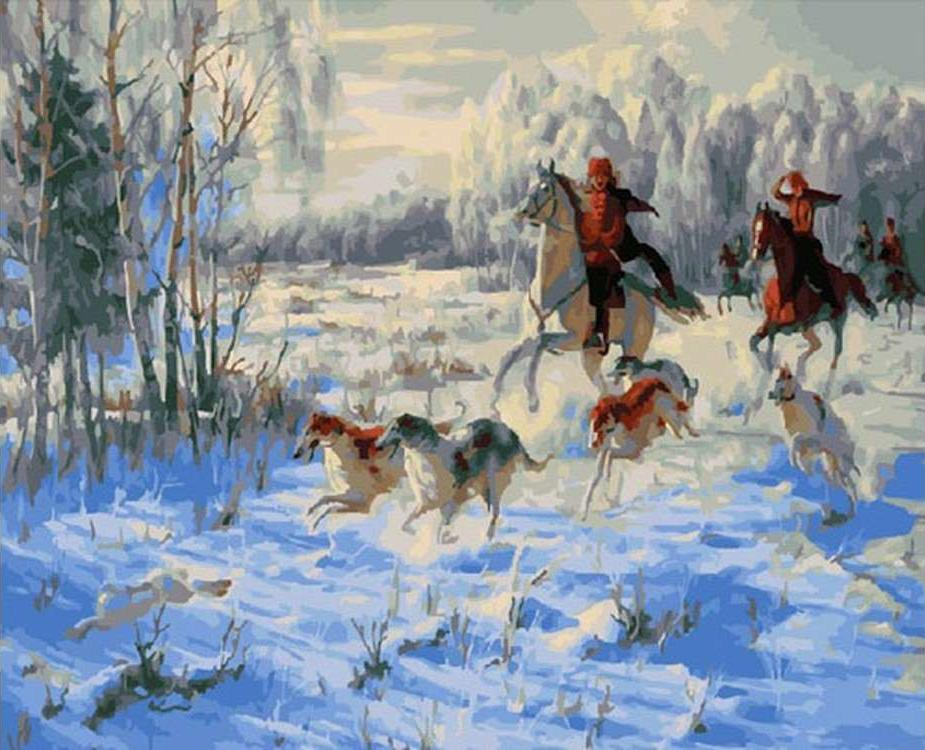 Картина по номерам «Зимняя охота» Дмитрия Лучанова