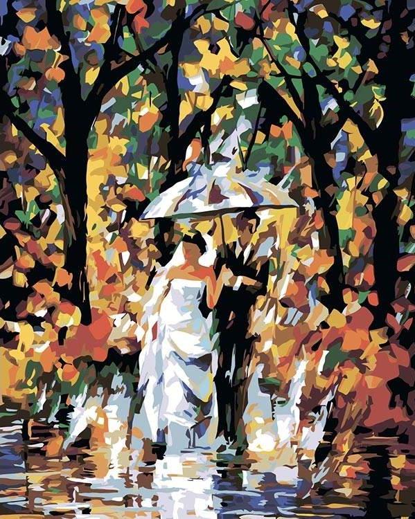 Купить Картина по номерам «Молодожены» Леонида Афремова, Живопись по Номерам, Китай