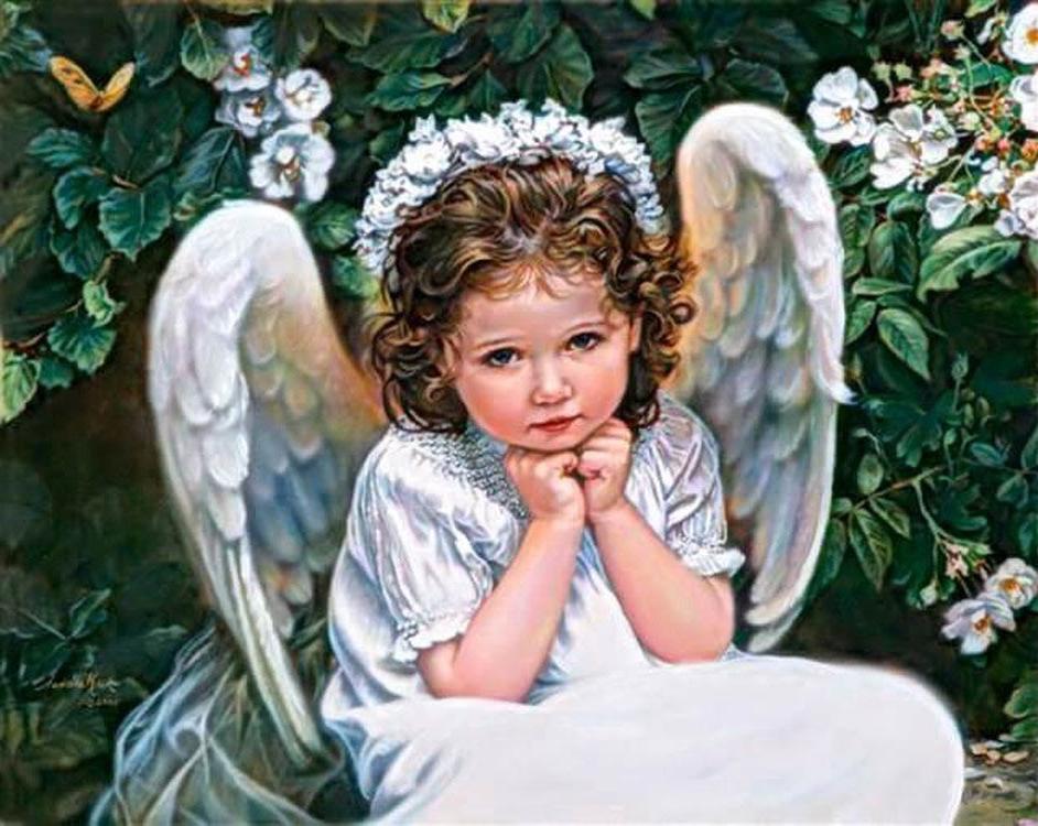 Алмазная вышивка «Портрет ангела»