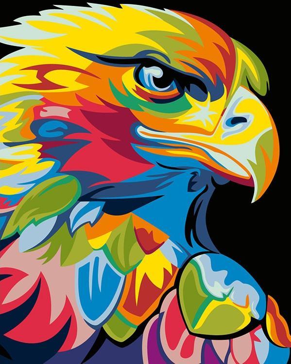 Купить Картина по номерам «Радужный орел» Ваю Ромдони, Живопись по Номерам, Китай