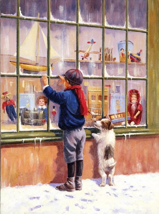 Картина по номерам «Рождественские гуляния»