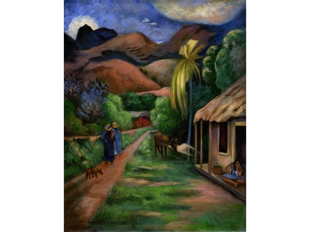 Картина по контурам гризайль «Горная дорога»