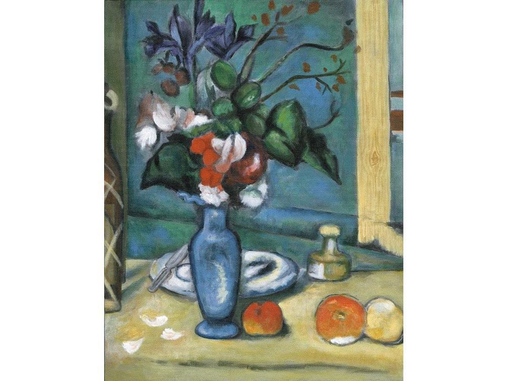 Картина по контурам гризайль «Голубая ваза»