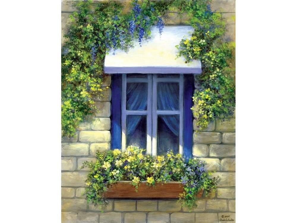 Картина по контурам гризайль «Европейское окно» Линды Коултер