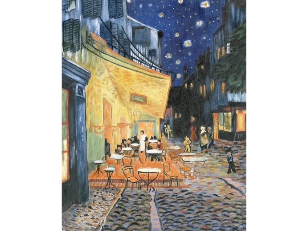 Картина по контурам гризайль «Ночное кафе» Ван Гога