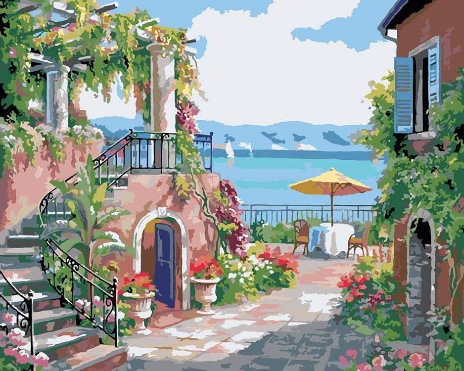 Картина по номерам «Райский отдых»