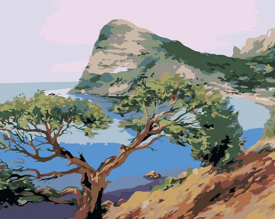 Картина по номерам «Скалистый берег»