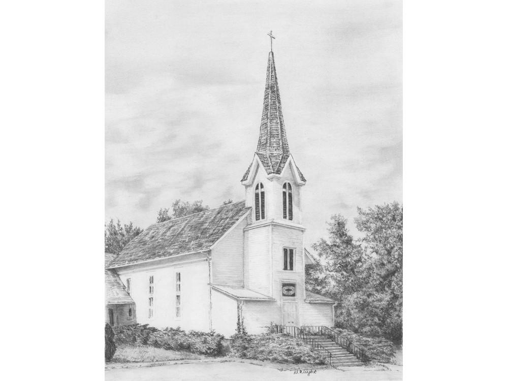 Набор для скетчинга «Церковь, увитая плющом»