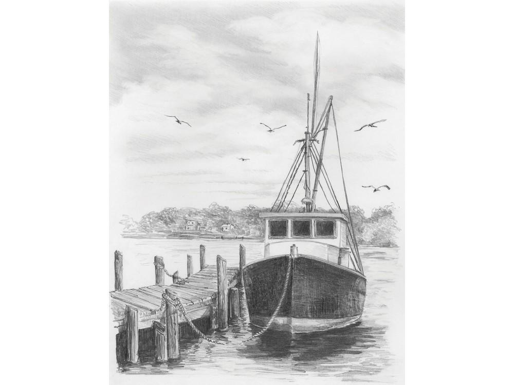 Набор для скетчинга «Рыбацкая лодка»
