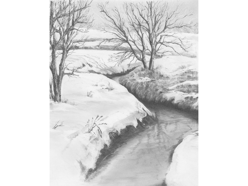 Набор для скетчинга «Зимний ручей»