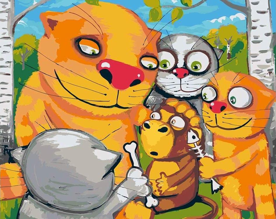 Купить Картина по номерам «Детство Маугли» Васи Ложкина, Живопись по Номерам, Китай