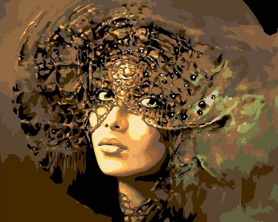 Купить Картина по номерам «Бронзовая маска», Живопись по Номерам, Китай