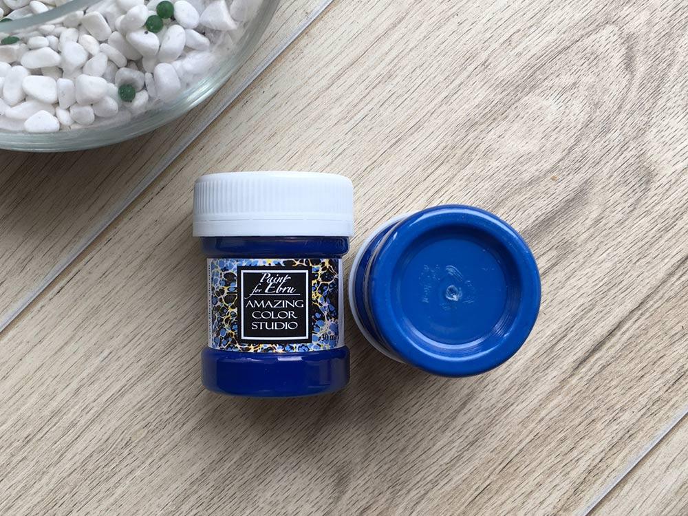 Купить Краска для эбру синяя 30 мл, Amazing Color