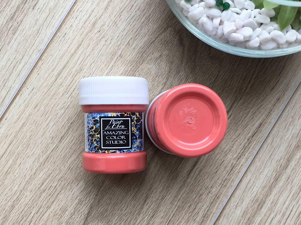 Купить Краска для эбру коралловая 30 мл, Amazing Color