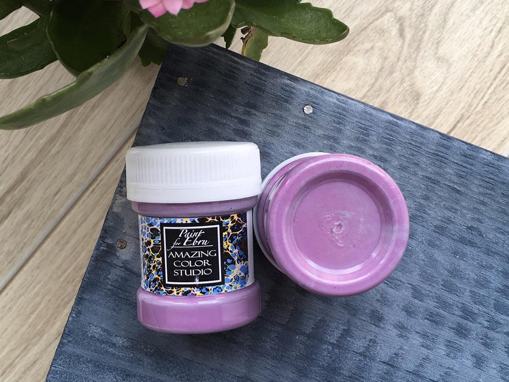 Купить Краска для эбру лиловая 30 мл, Amazing Color