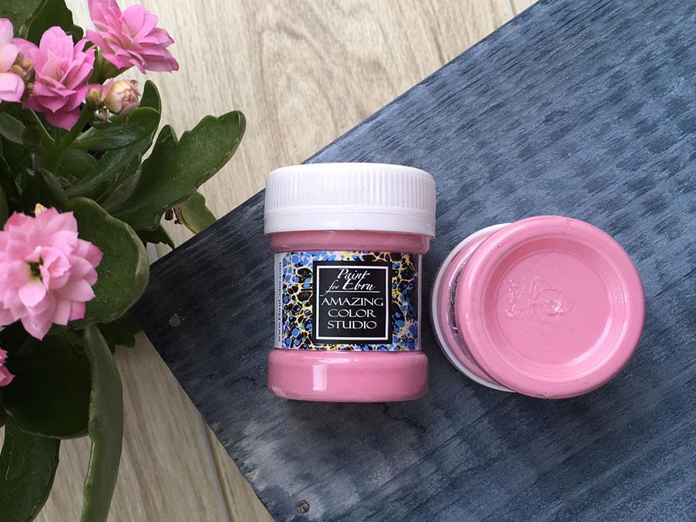 Купить Краска для эбру розовая 30 мл, Amazing Color