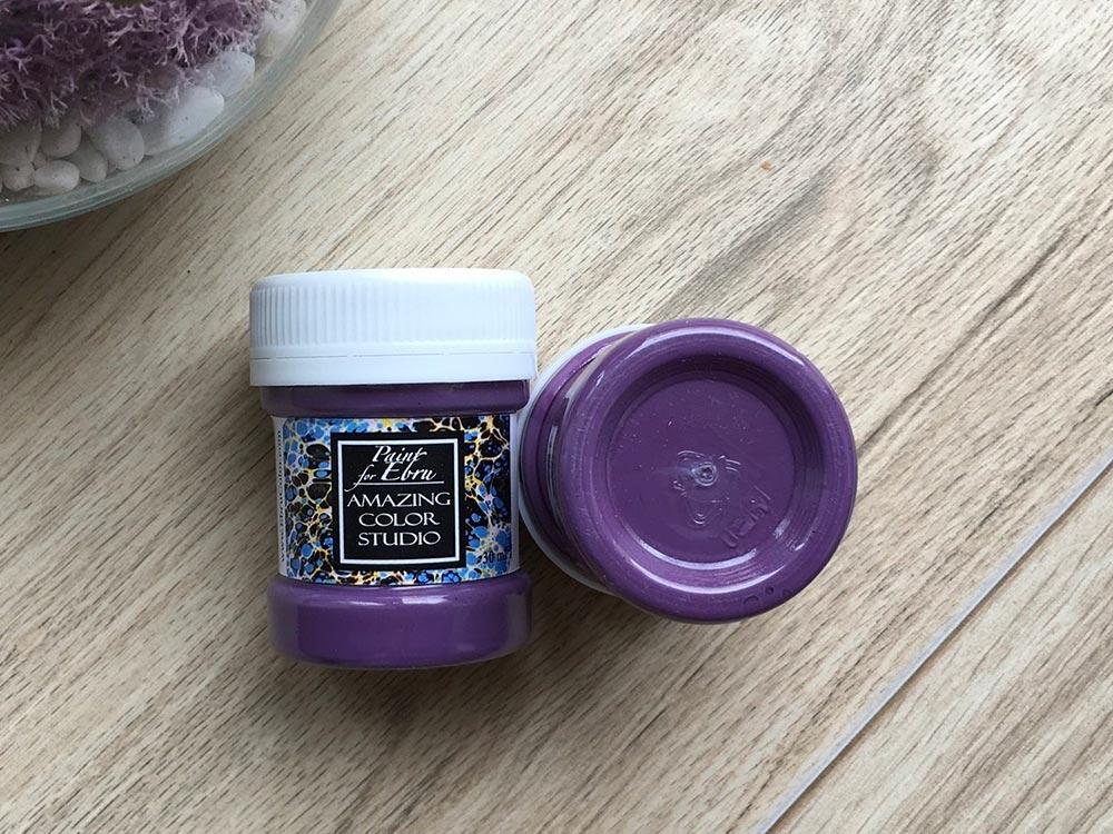 Купить Краска для эбру фиолетовая 30 мл, Amazing Color