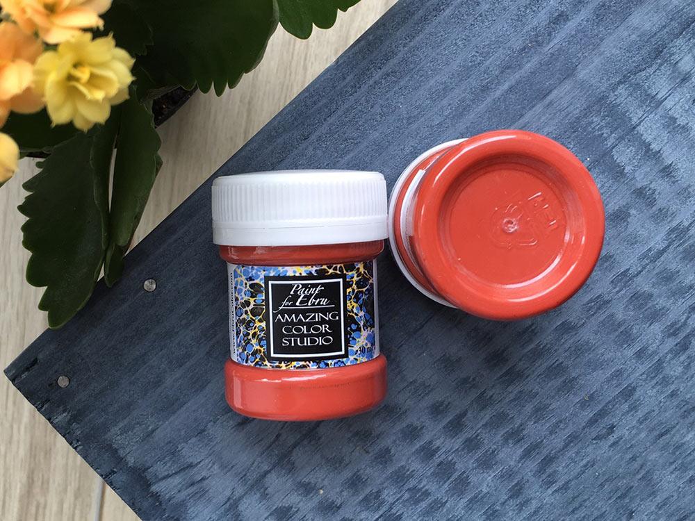 Купить Краска для эбру красная 30 мл, Amazing Color