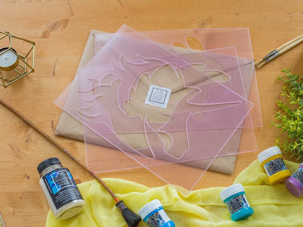 Купить Трафареты для эбру 10 штук, Amazing Color