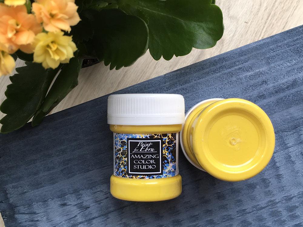 Купить Краска для эбру желтая 30 мл, Amazing Color