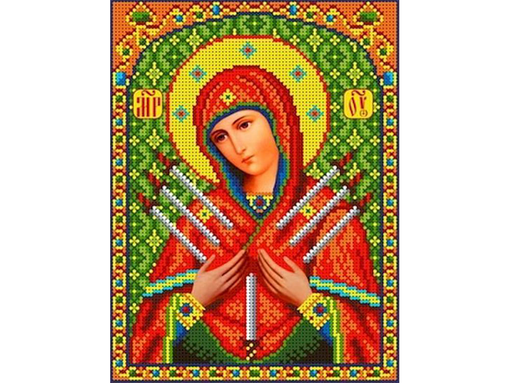 Набор вышивки бисером «Богородица Семистрельная»