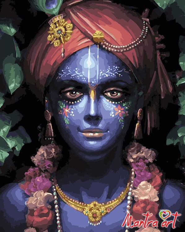 Купить Картина по номерам «Кришна Шьяма» + в наборе подарок, Mantra Art, Россия