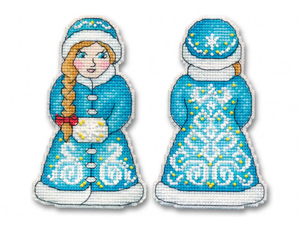 Купить Вышивка крестом, Набор для вышивания «Снегурочка», Овен, 7, 5x12, 5 см (2 шт.), 1145