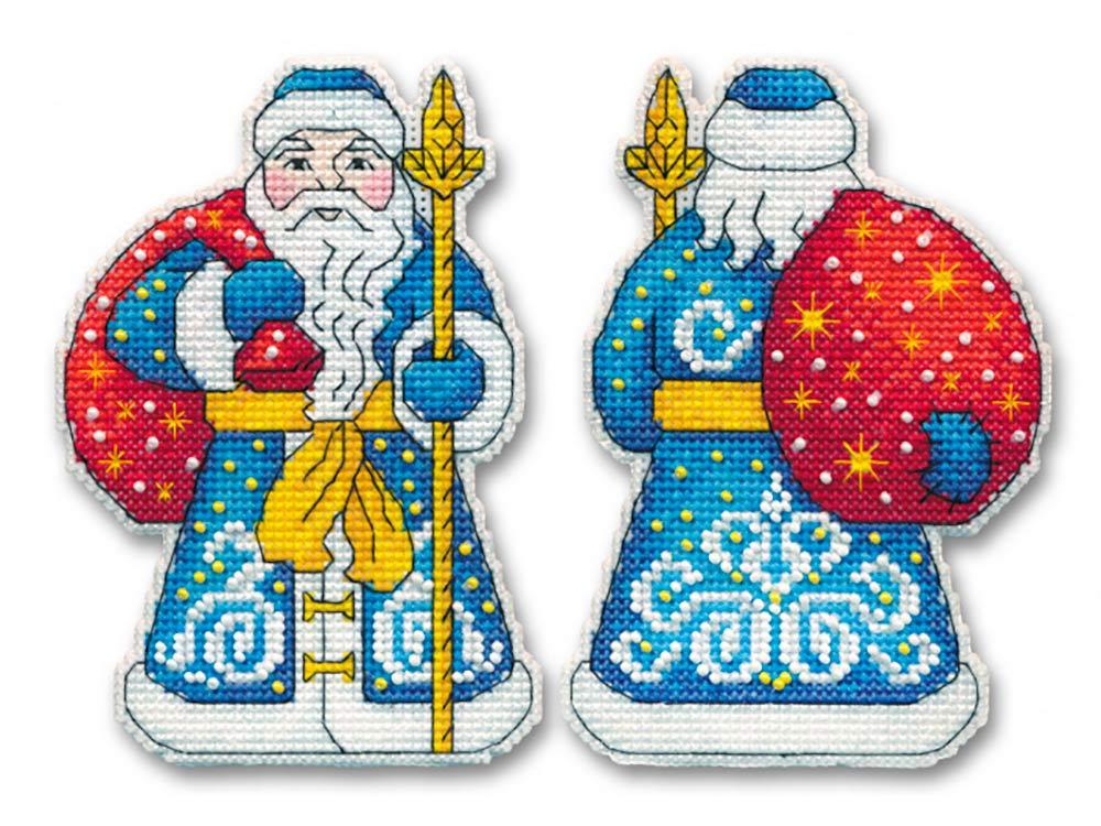 Купить Вышивка крестом, Набор для вышивания «Дед Мороз», Овен, 9x12, 8 см (2 шт.), 1146