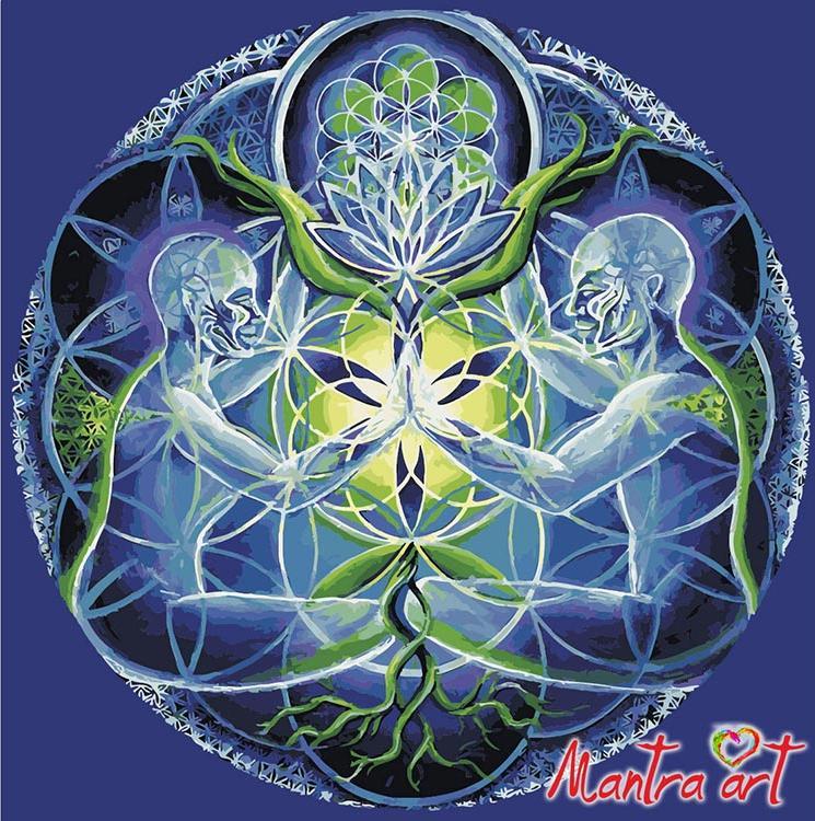 Купить Картина по номерам «Гармония» + в наборе подарок, Mantra Art