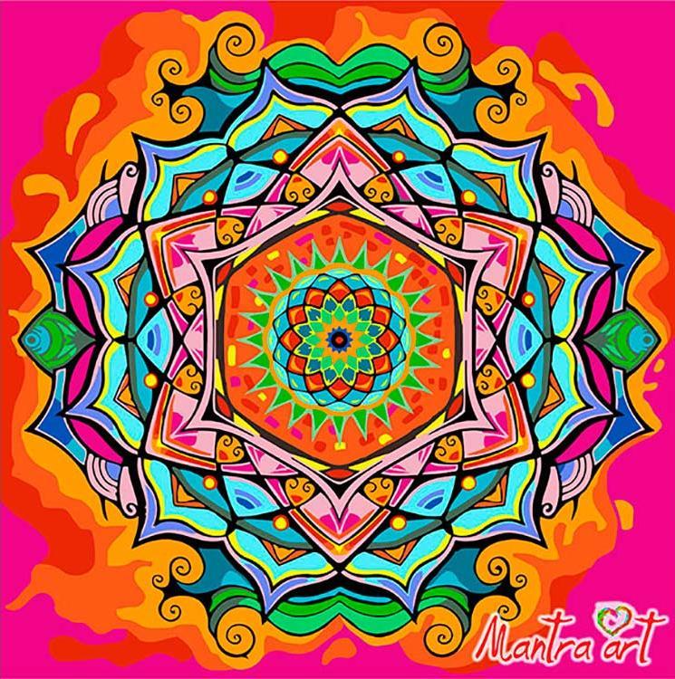 Купить Картина по номерам «Мандала Любви» + в наборе подарок, Mantra Art