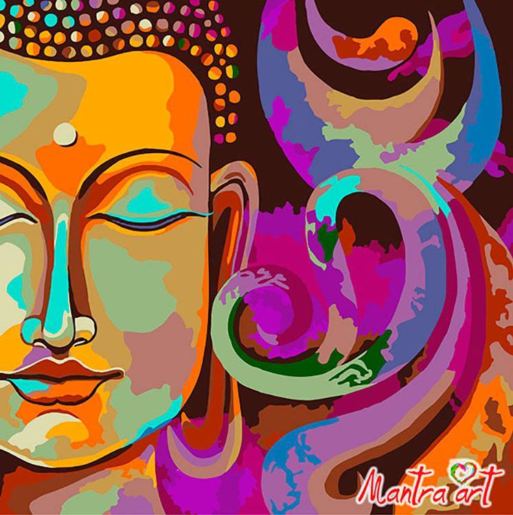 Купить Картина по номерам «Будда Нирвана» + в наборе подарок, Mantra Art