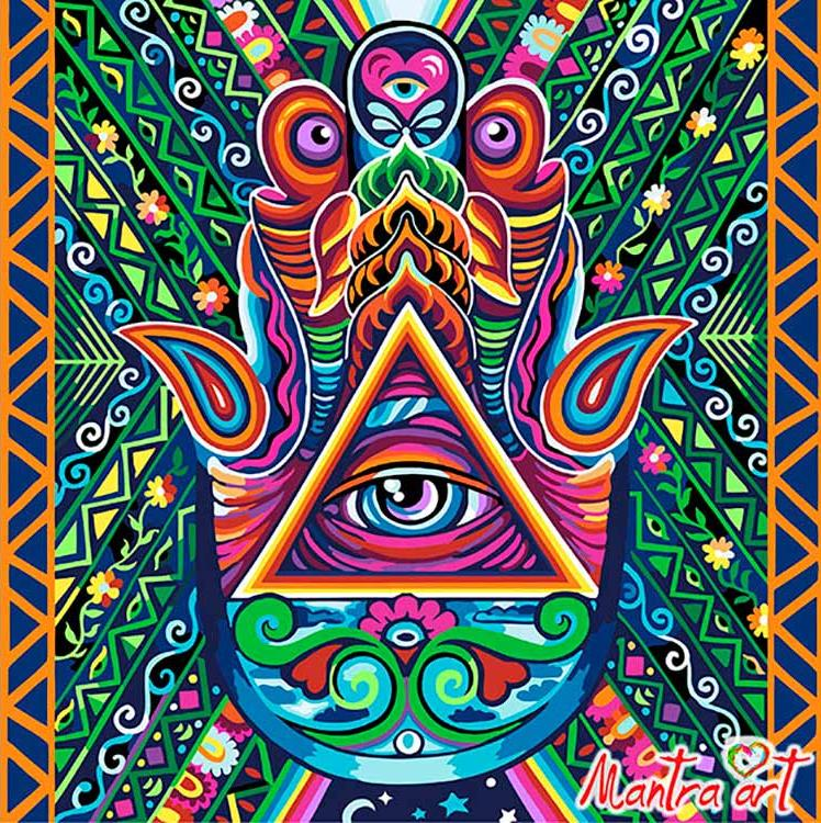 Купить Картина по номерам «Хамса» + в наборе подарок, Mantra Art