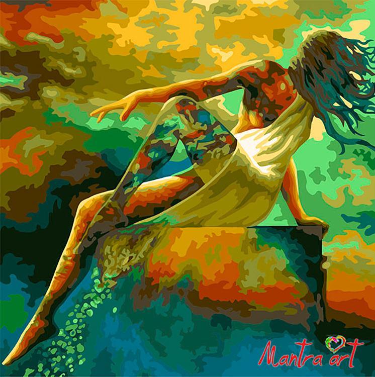 Купить Картина по номерам «Женский образ» + в наборе подарок, Mantra Art