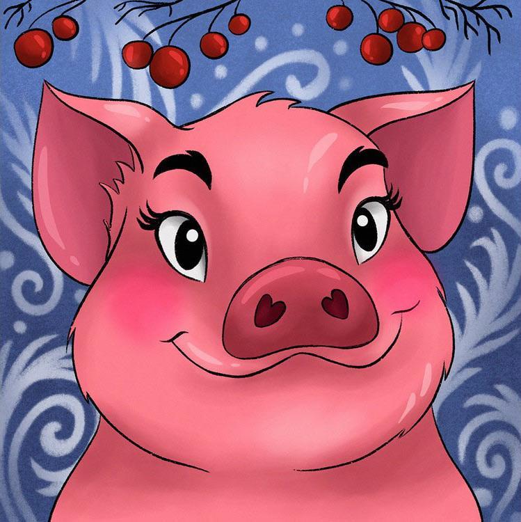 Купить Алмазная вышивка «Свинка», Гранни
