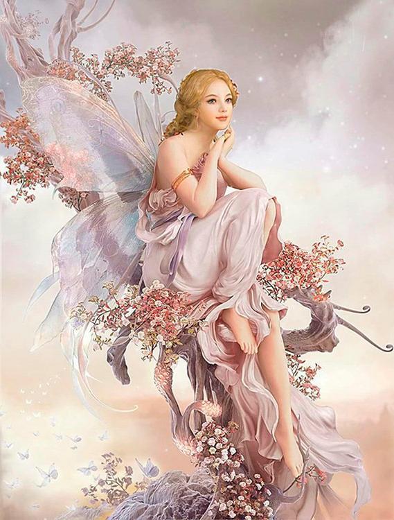 Купить Алмазная вышивка «Фея цветов», Алмазное Хобби, Россия, 40x60 см, Ah00671