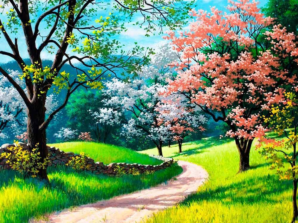 Алмазная вышивка «Цветущая весна» Артура Сарноффа